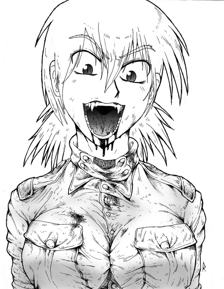 Crazed Seras by E-akahele