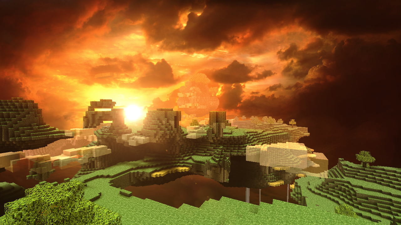 Wonderful Wallpaper Minecraft Scenery - aether__dangerous_place____by_theevollutions-d45woze  Image_376542.png