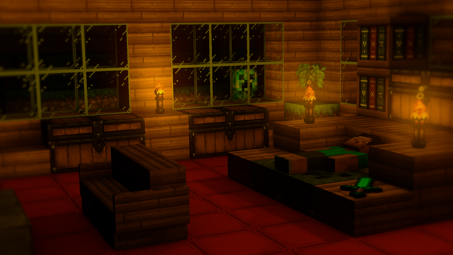 Minecraft 3d room by theevollutions on deviantart for 3d house wallpaper room