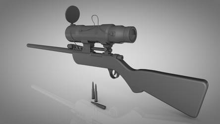 TF2 Sniper rifle 3D by TheEvOlLuTiOnS