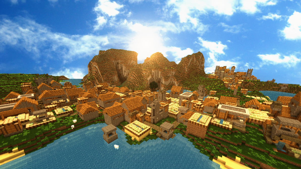 Must see Wallpaper Minecraft Poster - minecraft_npc_city_by_theevollutions-d4e49jy  Collection_505585.png