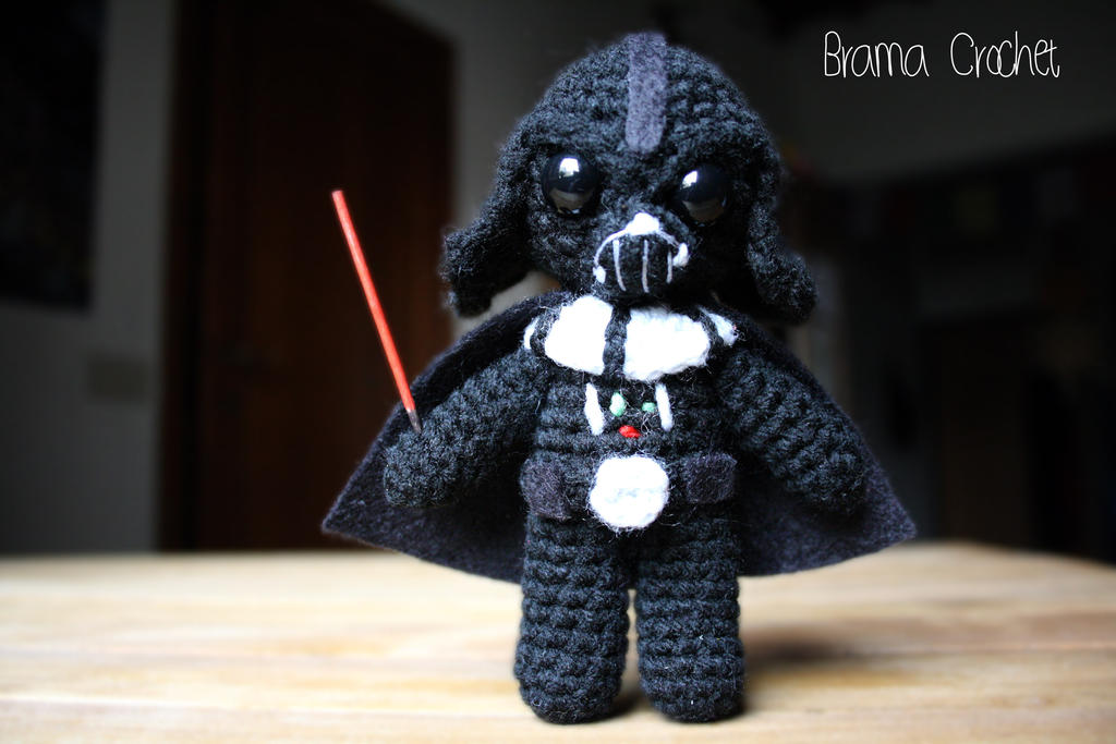 Amigurumi Sewing Machine Pattern : Darth Vader Star Wars Amigurumi doll by BramaCrochet on ...