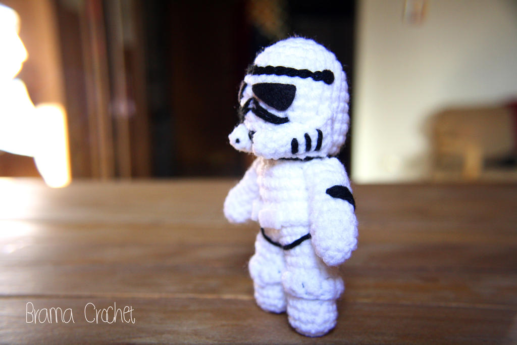 Free Crochet Star Wars Doll Patterns : Stormtrooper - Star Wars Amigurumi doll by BramaCrochet on ...