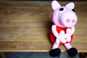 Peppa Pig Amigurumi doll by BramaCrochet