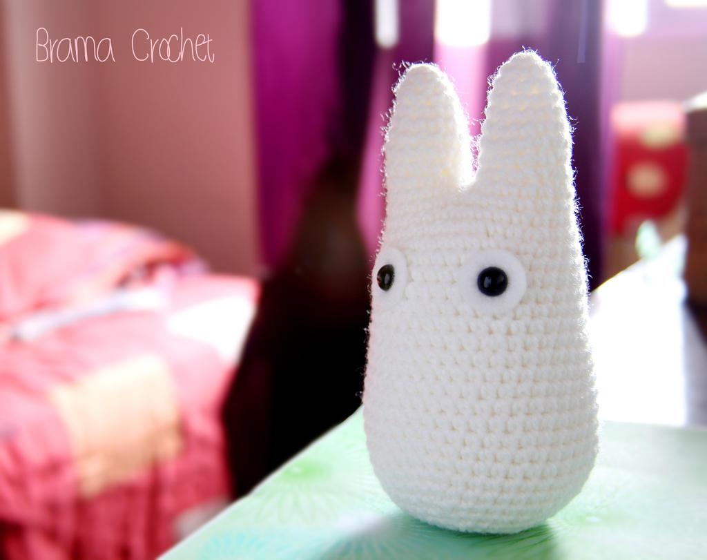 White Totoro Amigurumi : White TOTORO Amigurumi crochet doll plush - Studio by ...