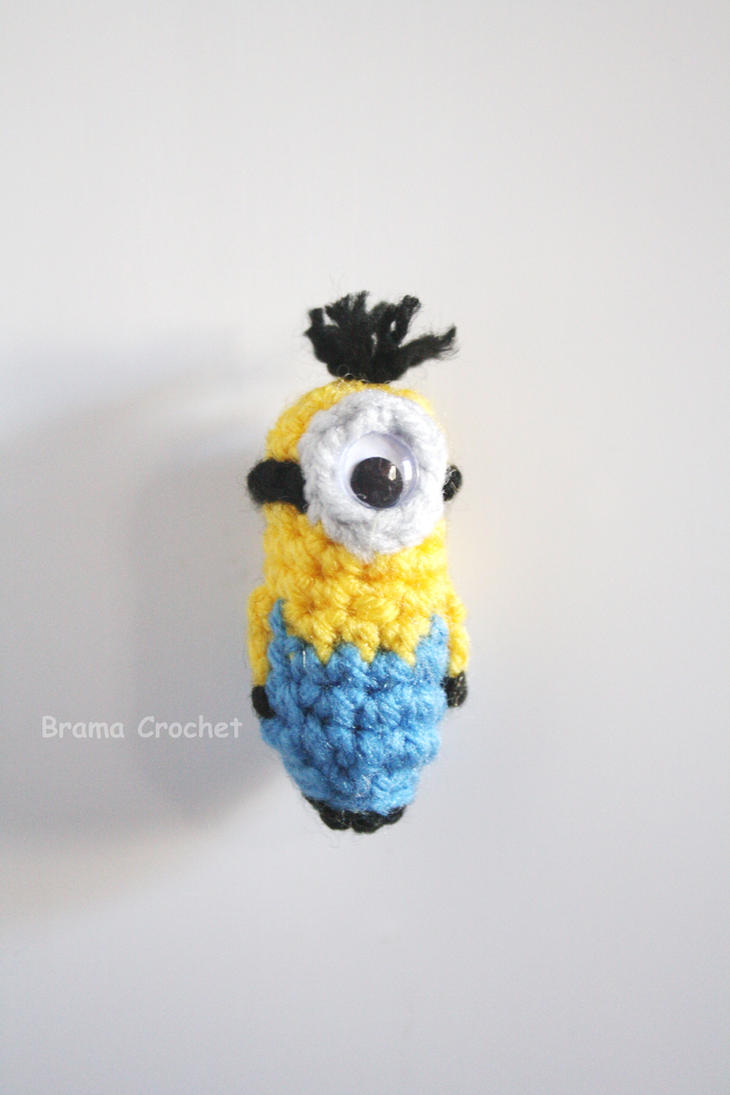Free Crochet Pattern For Minion Toy : Mini Minion Crochet amigurumi doll by BramaCrochet on ...