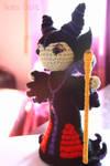 Maleficent crochet amigurumi doll