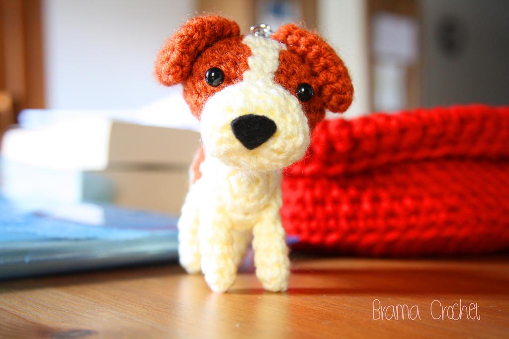 Amigurumi Jack Russell Pattern : Jack russell terrier kawaii amigurumi doll by bramacrochet on