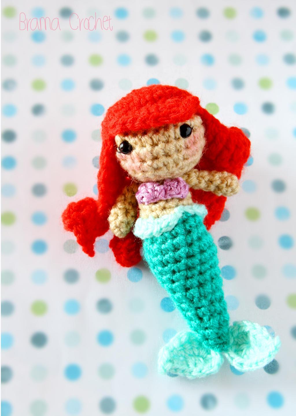 Little Mermaid - Kawaii Amigurumi plush by BramaCrochet on ...