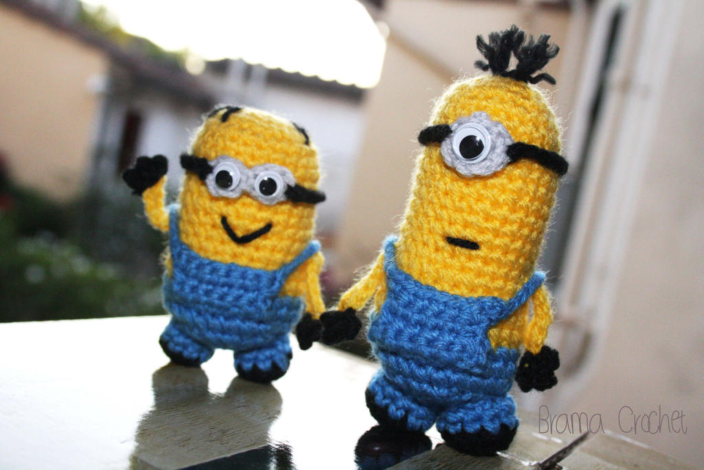 Free Crochet Pattern For Minion Toy : Minions Despicable Me Amigurumi doll by BramaCrochet on ...
