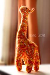 Giraffe Amigurumi crochet doll plush by BramaCrochet