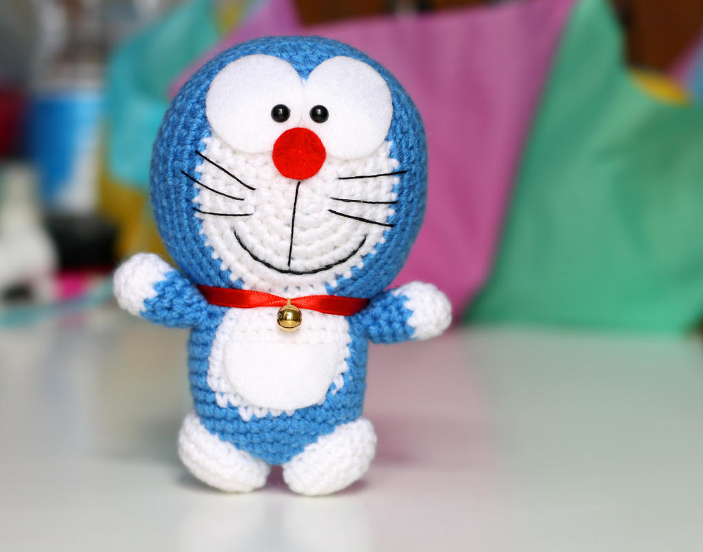 Crochet Doraemon Amigurumi : Doraemon amigurumi crochet doll plush by bramacrochet on