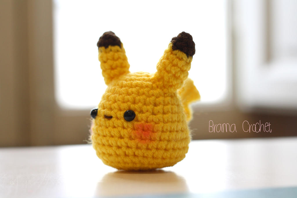 Schema Pikachu Amigurumi : Little Pikachu - amigurumi doll by BramaCrochet on DeviantArt