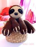 Sloth crochet amigurumi doll plush