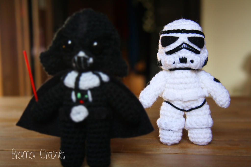 Amigurumi Star Wars Patterns : Darth vader and stormtrooper star wars amigurumi by bramacrochet