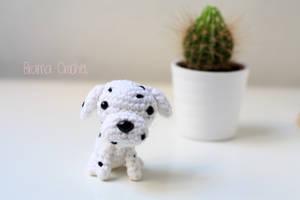 Dalmata Kawaii Amigurumi dog plush by BramaCrochet
