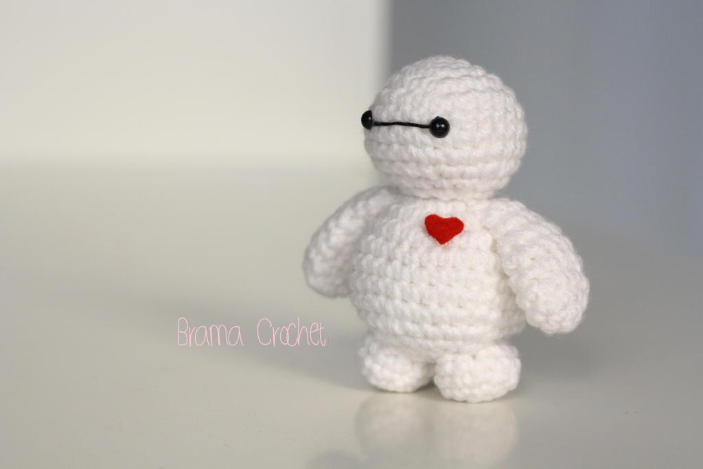 Crochet Amigurumi Baymax Pattern : Tiny Baymax crochet amigurumi doll plush by BramaCrochet ...