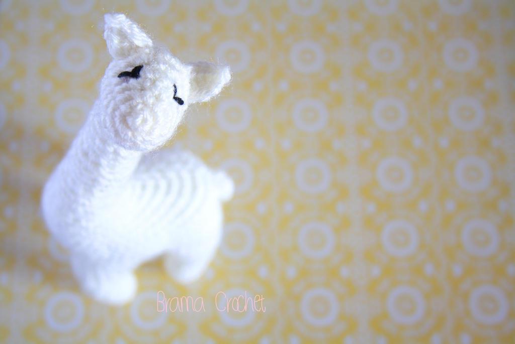 White Giraffe Amigurumi crochet doll plush by BramaCrochet