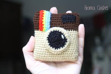 Instagram camera amigurumi crochet