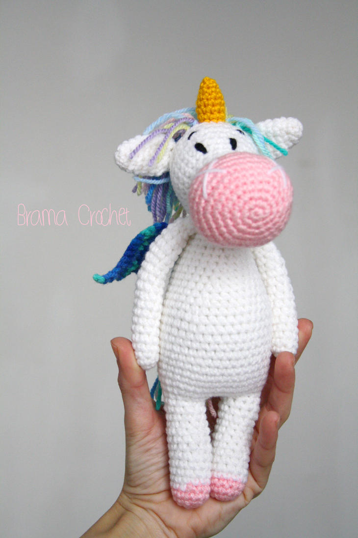 Amigurumi Unicorn Anleitung : Unicorn amigurumi crochet plushie by BramaCrochet on ...
