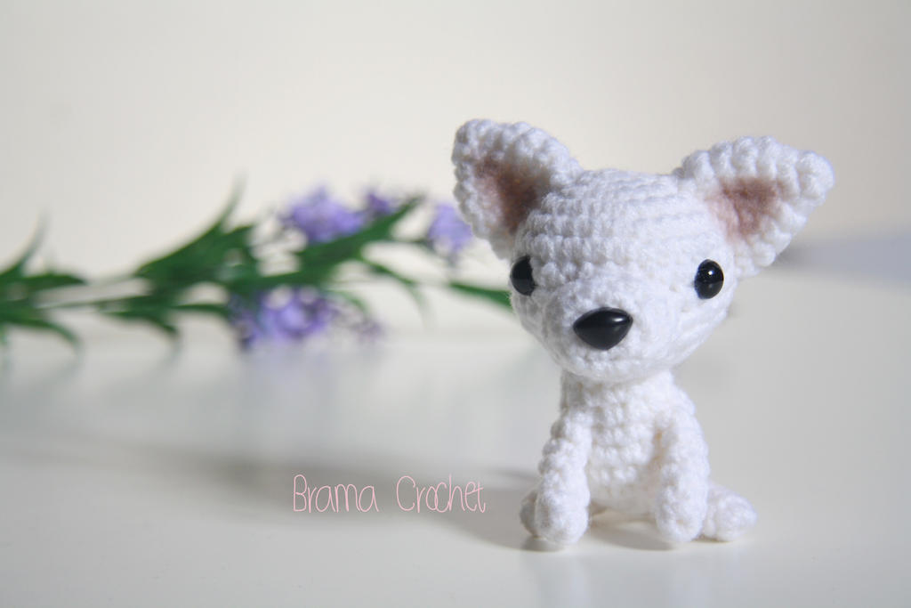 Chihuahua Kawaii Amigurumi dog doll by BramaCrochet