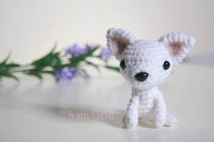 Chihuahua Kawaii Amigurumi dog doll by BramaCrochet
