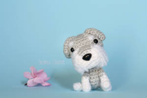Schnauzer Kawaii Amigurumi dog doll by BramaCrochet