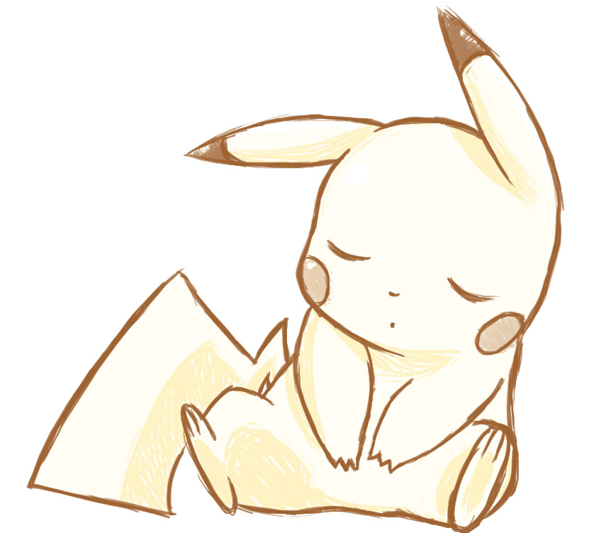 sleeping pikachu by mg9990