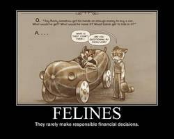 Feline Finances Poster by tomthefanboy