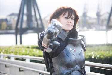 Commander Shepard Cosplay - MCM Expo Oct 2012 [2] by arido-X