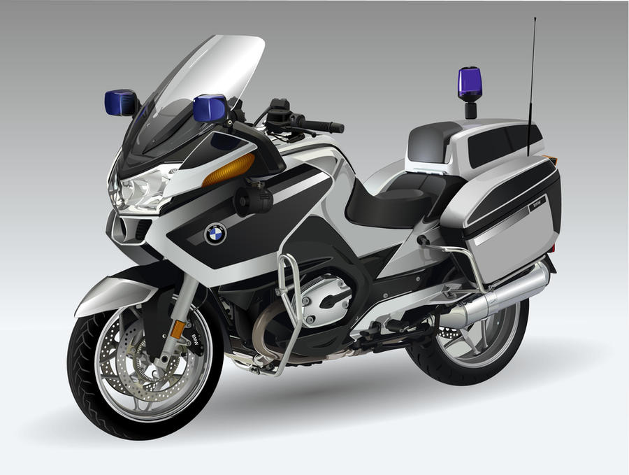 POLICE MOTORCYCLE VECTOR by nrslkrkc