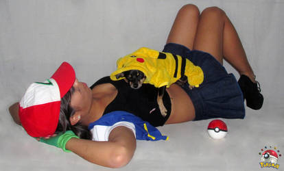 Ash Ketchum and Pikachu Cosplay by Marysaura
