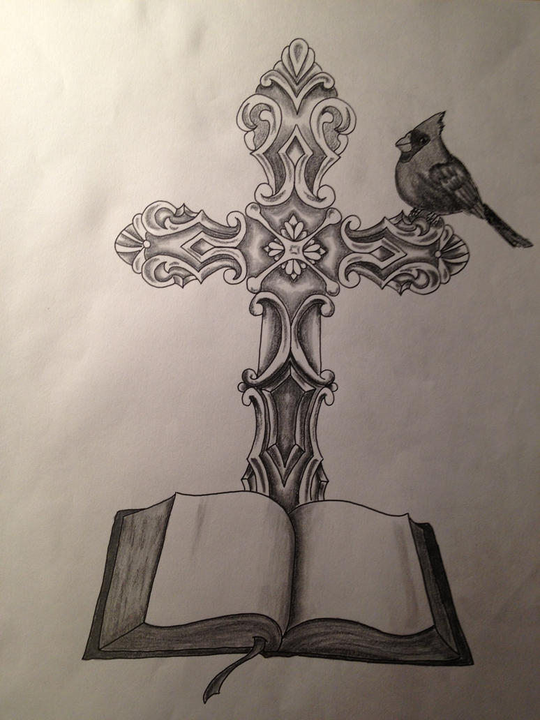 christian cross sketches - photo #19