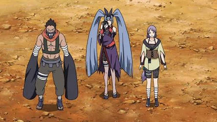 Lady Saya from naruto pic 2 shes in the middle