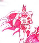 WHITE BOARD: Batman on Gargoyle