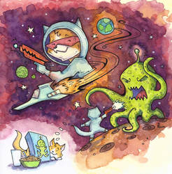Kitty Game - Marty in Space