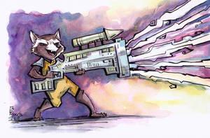 Rocket Racoon by CorinneRoberts