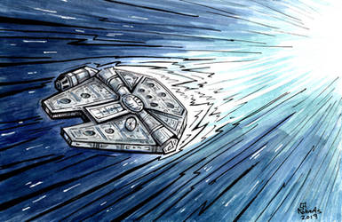 Millennium Falcon by CorinneRoberts