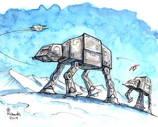 AT-AT Walkers by CorinneRoberts