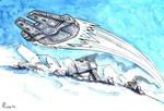 Millennium Falcon - Hoth Battle by CorinneRoberts