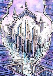 Purple City by CorinneRoberts