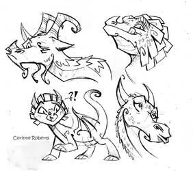 Dragon Faces