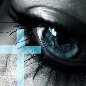 sad eye and cross by jiik29