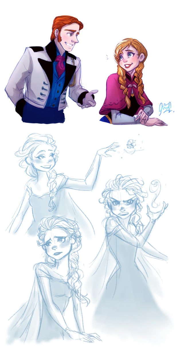 Disney's Frozen - Doodles by cherlye