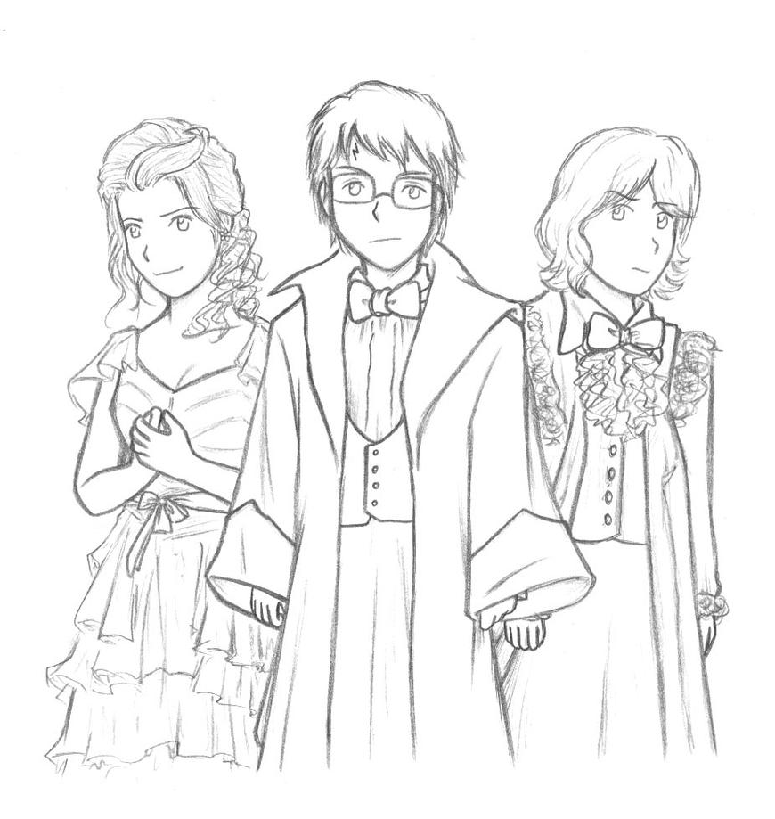 Line Drawing Harry Potter : Harry potter the th movie by cherlye on deviantart