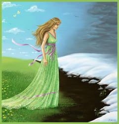 Girl-spring by Joya-Filomena