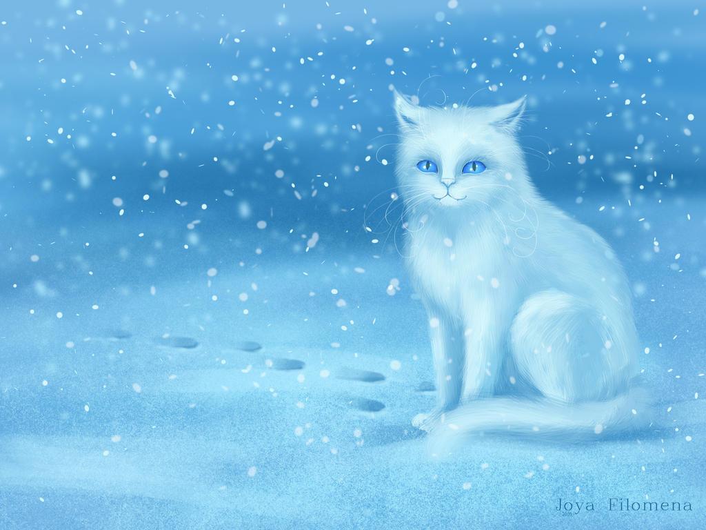 Winter cat by Joya-Filomena