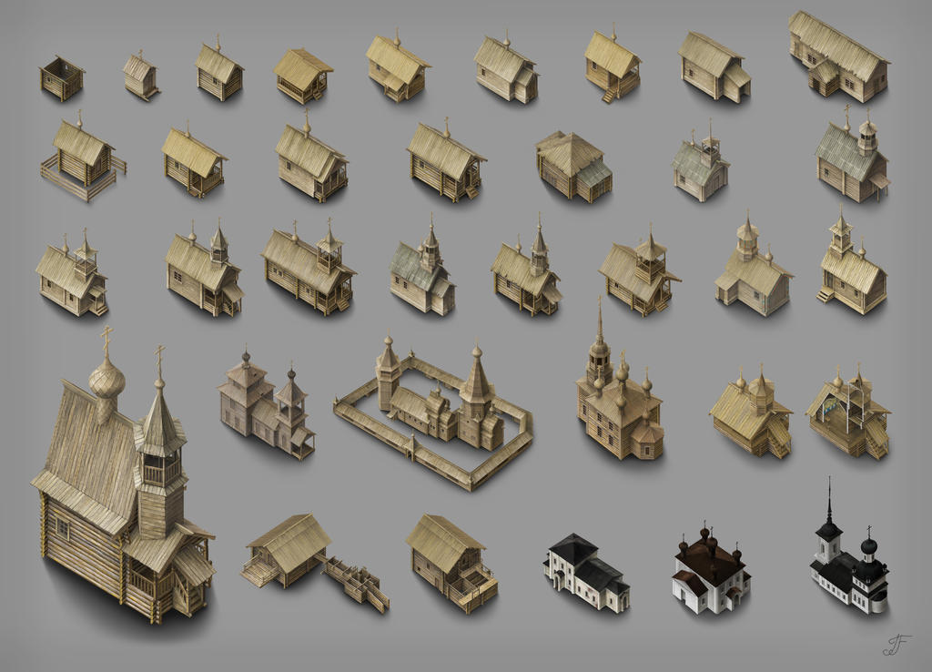 Chapels and churches by Joya-Filomena