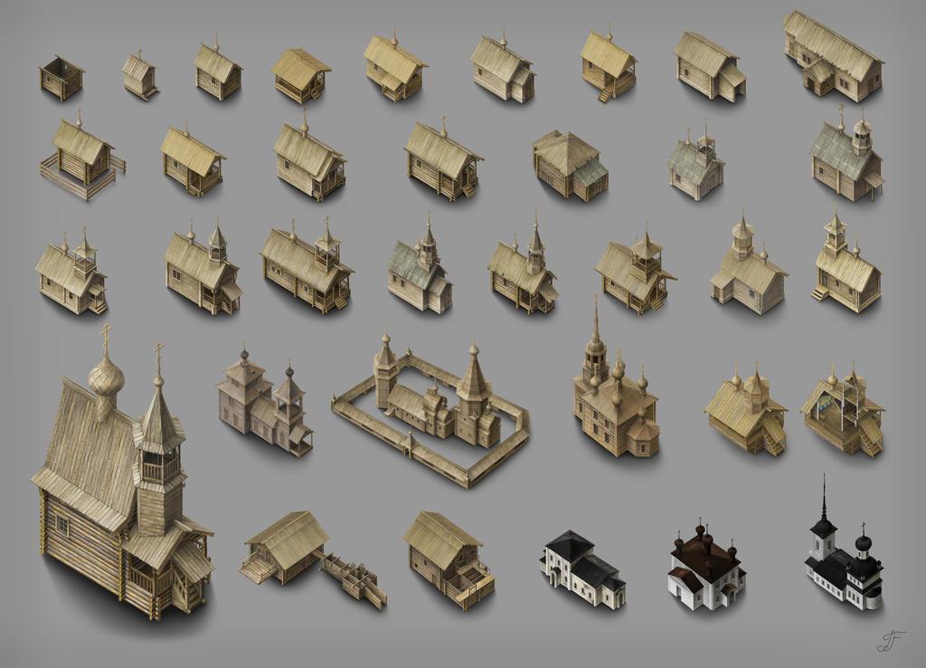 Chapels and churches by Joya-Filomena