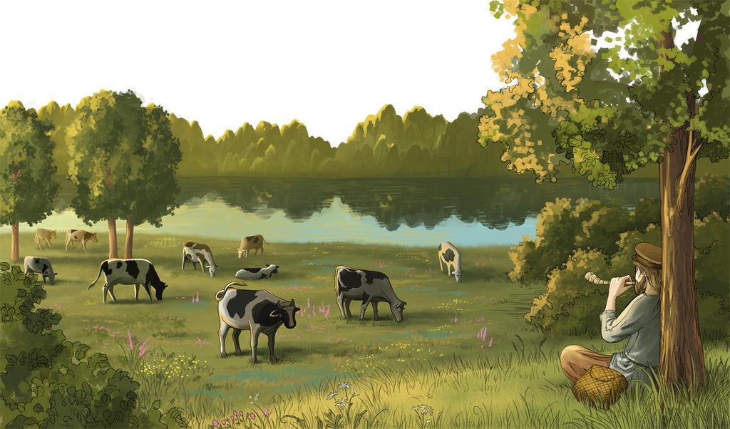 Cowherd by Joya-Filomena
